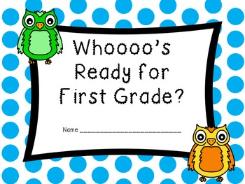 Whooo's Ready for First Grade Book (Beginning of Year Book) Owl Style