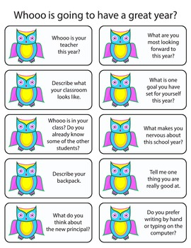 Whooos in my class? Get to know you activity!