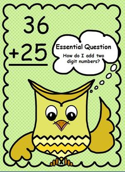 Whooo's ready to add 2 digit numbers? 1st grade CCSS aligned grouping of ones