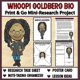 Whoopi Goldberg Bio: Print & Go Mini-Research Project (Int