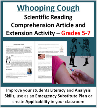 Whooping Cough - Science Reading Article - Grades 5-7