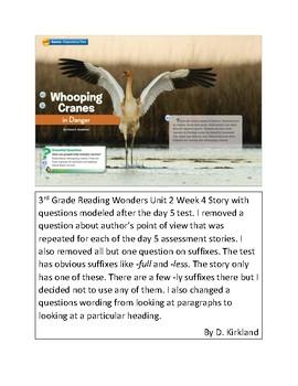 Whooping Cranes in Danger