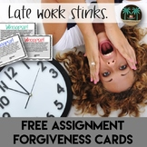 Whoopsie! Late Assignment Forgiveness Cards for Classroom Management