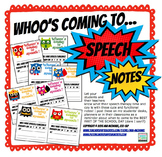 Super Hero Speech Time Reminder Notes (time and day)