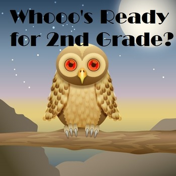 Whoo's Ready for 2nd Grade? Postcard (editable)