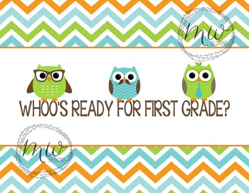 Whoo's Ready for First Grade Postcard {Custom grade reques
