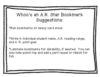 A. R. Owl Bookmark