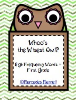 Whoo's the Wisest Owl?  High Frequency Words Plus