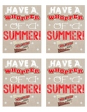 Whoppers End of the Year Candy Tag