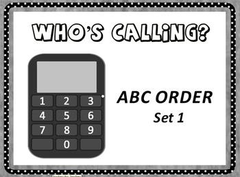 Who's Calling? Flipchart - ABC Order