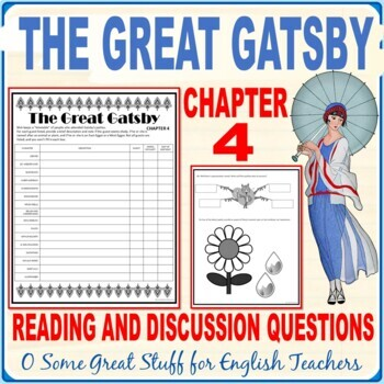 THE GREAT GATSBY   Chapter 4 Activity: Comprehension and Analysis with Key