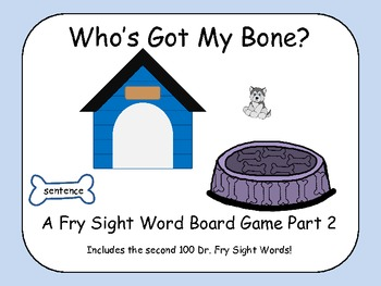 Who's Got My Bone? - A Fry Sight Word Board Game - words 101-200