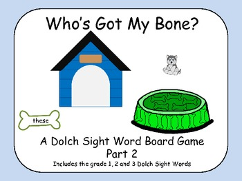 Who's Got My Bone? - A Grade 1-3 Dolch Sight Word Board Game