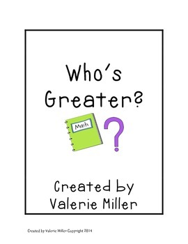 Who's Greater? A Place Value Game