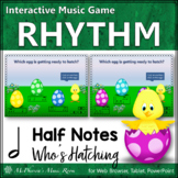 Spring Music Game: Half Notes Interactive Rhythm Game {Who's Hatching}