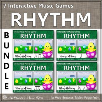 Who's Hatching? Interactive Rhythm Games {Bundle}