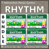 Spring Music Games: Interactive Rhythm Games Bundle {Who's