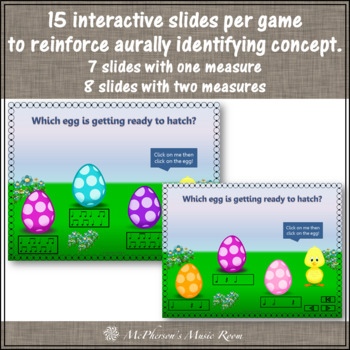 Spring Music Games: Interactive Rhythm Games Bundle {Who's Hatching}