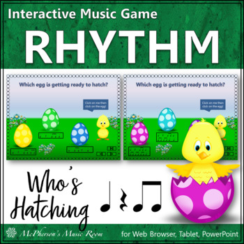 Spring Music Game: Eighth Notes Interactive Rhythm Game {Who's Hatching}
