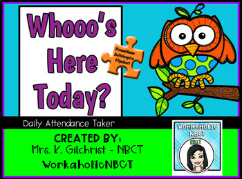 Who's Here Today? Owl Themed Attendance Taker - Promethean File