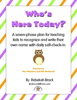 Who's Here Today? Teach kids to recognize & write their name with self-check-in!