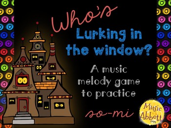 Who's Lurking in the Window? Four interactive PDF games to practice so-mi