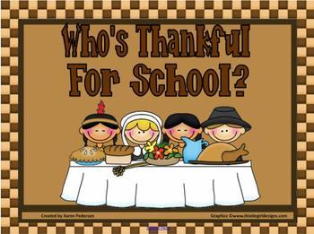 Who's Thankful? Attendance Checker