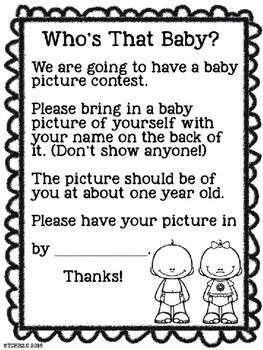 Who's That Baby? End of the Year, Back to School, Open House Free