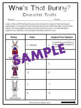 Who's That Bunny? (Character Traits)