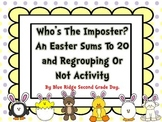 Who's The Imposter Sums To 20 And To Regroup Or Not Math Activities