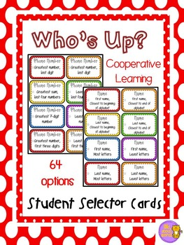 Cooperative Learning:  Student Selector Prompts