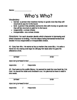 Financial Literacy- Who's Who