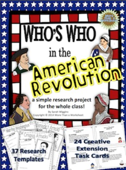 American Revolution Research Project with Creative Extensions