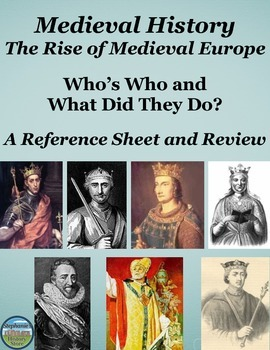 Who's Who in The Rise of Medieval Europe: Reference Sheet