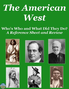Who's Who in the American West: Reference Sheet and Review