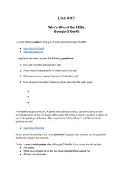 Who's Who of the 1920s: Biography Activity / Webquest Set
