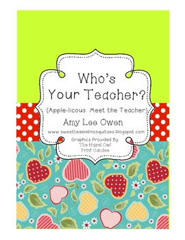Who's Your Teacher? (Apple-icious Meet the Teacher Fun)