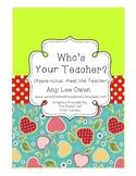 Who's Your Teacher? (Apple-icious Meet the Teacher Fun)