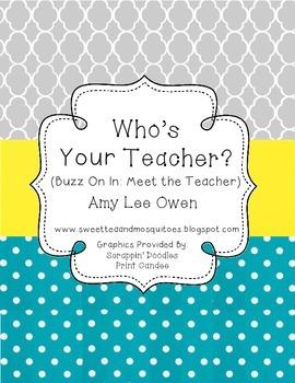 Who's Your Teacher (Buzz On In to Meet the Teacher)