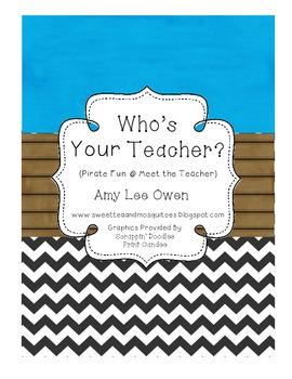 Who's Your Teacher (Pirate Fun at Meet the Teacher)