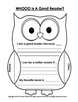 Who's a Good Reader? Owl Report