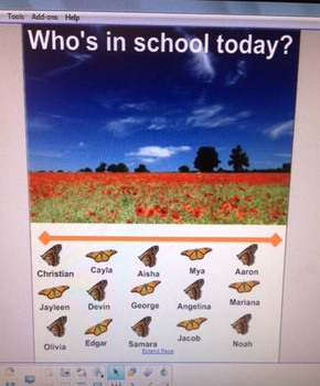 Who's in School Today  Monarch Attendance Chart