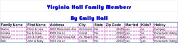 Who's in Your Family Tree Excel Project