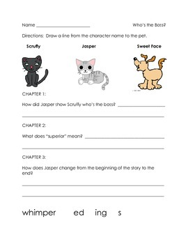 Who's the Boss? Guided Reading book activity
