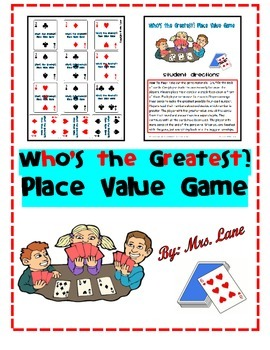 Who's the Greatest? Place Value Game