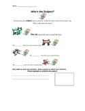 Who's the Subject? worksheet