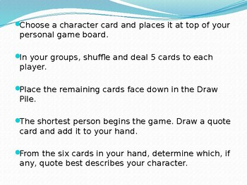 Whose Character Is It?: The Character Game