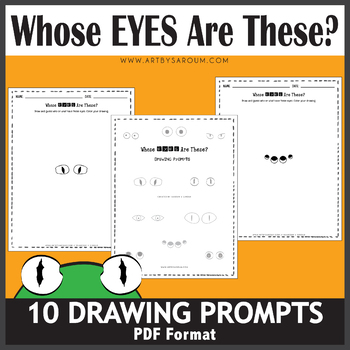 Whose Eyes Are These Drawing Prompts