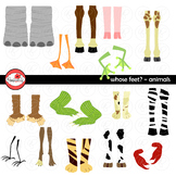Whose Feet? Animal Clipart by Poppydreamz NOW with LINE ART!