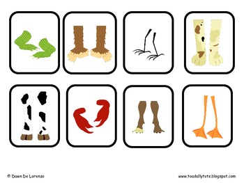 Whose Feet? BINGO {Inference Skills. Receptive and Expressive Language}